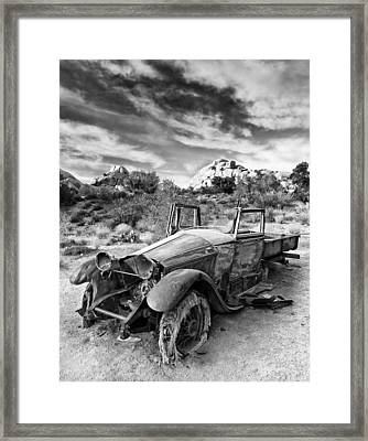 Abandoned Car Framed Print by Alexis Birkill