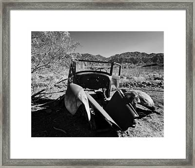 Abandoned Car Ballarat Ca Framed Print