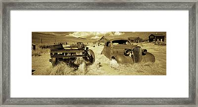 Abandoned Car In A Ghost Town, Bodie Framed Print by Panoramic Images