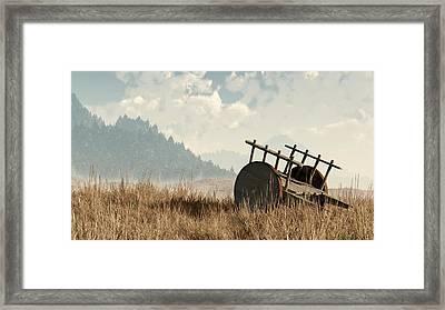 Abandoned Cart Framed Print