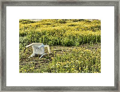 Abandoned Chair Framed Print