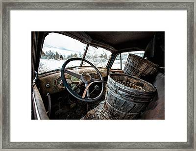 Framed Print featuring the photograph Abandoned Chevrolet Truck - Inside Out by Gary Heller