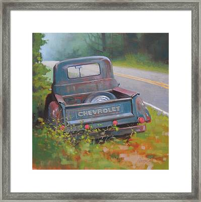 Abandoned Chevy Framed Print