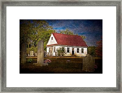 Abandoned Church And Graves Framed Print