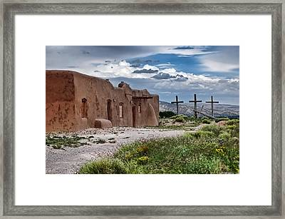 Abandoned Church In Abiquiu New Mexico Framed Print