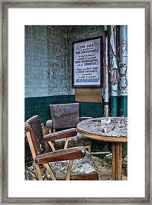 Abandoned Cleanliness Framed Print by DJ Florek
