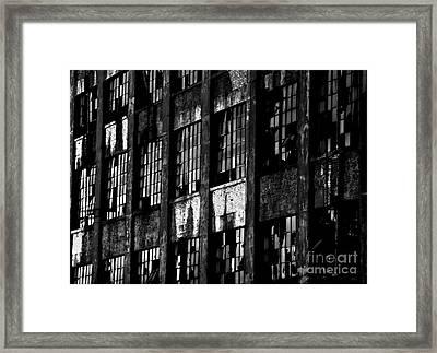 Abandoned Denaturing Plant - Bw Framed Print by James Aiken