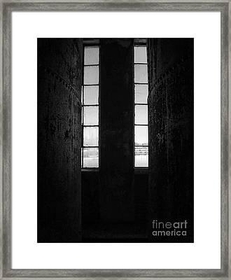 Abandoned Denaturing Tanks I - Bw Framed Print by James Aiken