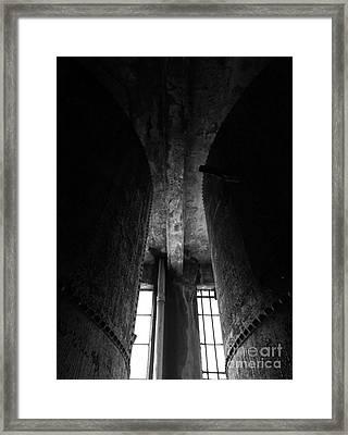 Abandoned Denaturing Tanks II - Bw Framed Print by James Aiken