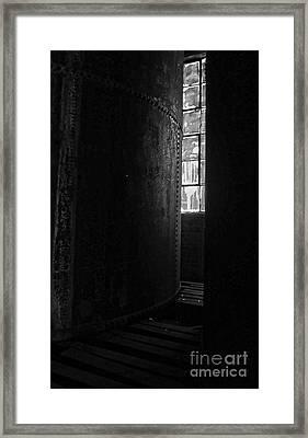 Abandoned Denaturing Tanks IIi - Bw Framed Print by James Aiken