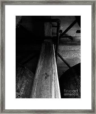 Abandoned Denaturing Tanks Iv - Bw Framed Print by James Aiken