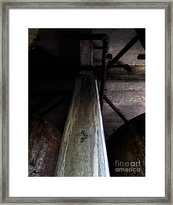 Abandoned Denaturing Tanks Iv Framed Print by James Aiken