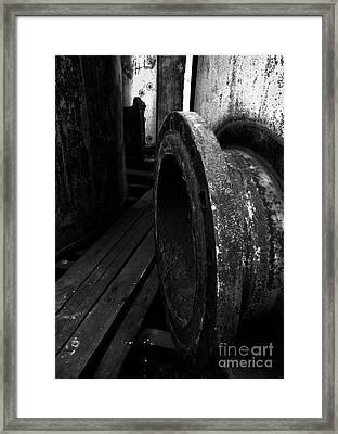 Abandoned Denaturing Tanks V - Bw Framed Print by James Aiken