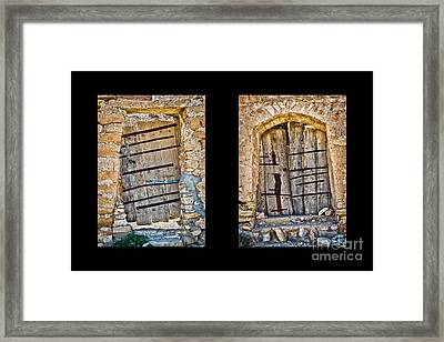 Abandoned Diptych Framed Print