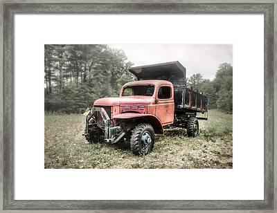 Abandoned Dump Truck - American Classics Framed Print by Gary Heller