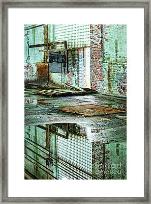 Abandoned Factory Interior Framed Print by HD Connelly