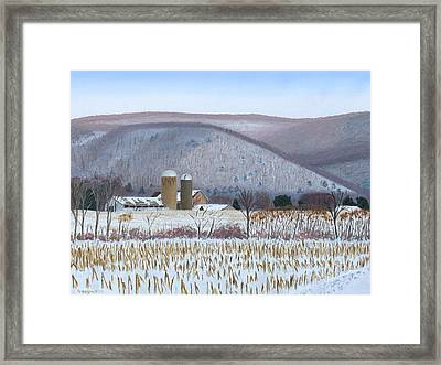 Abandoned Farm In The Mountain's Shadow Framed Print