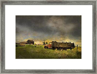 Abandoned Farm Truck Framed Print by Theresa Tahara