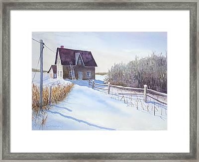 Abandoned Farmhouse Framed Print by Ian Nicholl