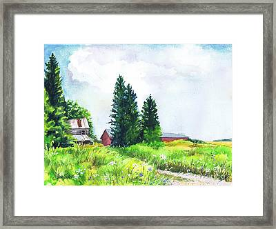 Abandoned Farmhouse Framed Print by Susan Herbst