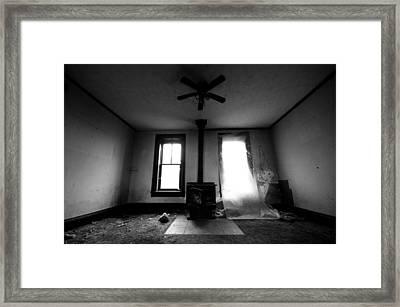 Abandoned Fireplace Framed Print