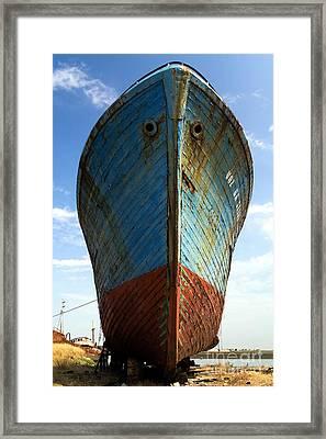 Abandoned Fishing Ship Framed Print