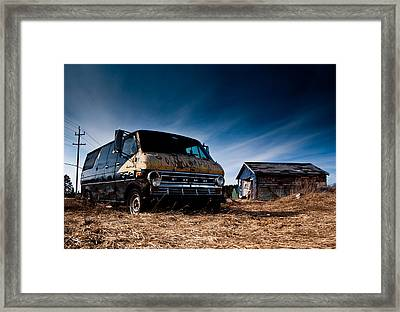 Abandoned Ford Van Framed Print by Cale Best
