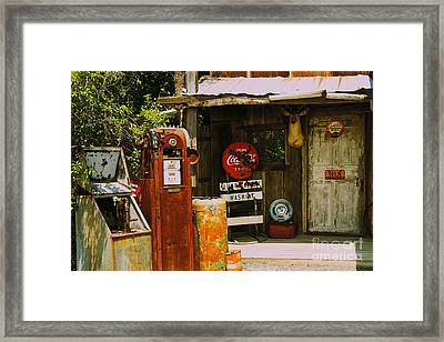 Abandoned Gas Station Framed Print by William Norton
