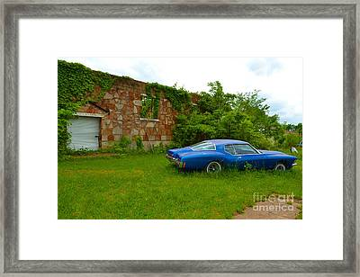 Framed Print featuring the photograph Abandoned Gym And Car by Utopia Concepts
