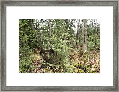 Abandoned Harp Switch Stand - New England Usa Framed Print by Erin Paul Donovan