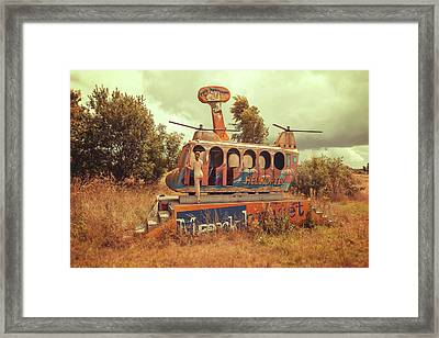 Abandoned Helicopter Framed Print