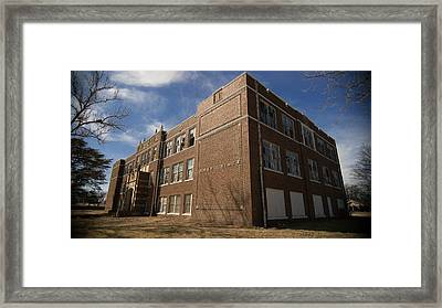 abandoned high school 1 Coleman Texas Framed Print