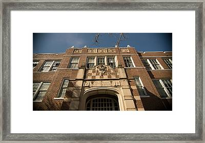 abandoned high school 3 Coleman Texas Framed Print