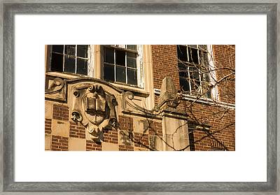 abandoned high school 4 Coleman Texas Framed Print
