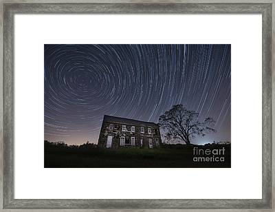 Abandoned History Star Trails Framed Print by Michael Ver Sprill