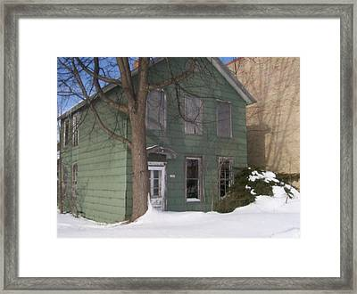 Framed Print featuring the photograph Abandoned Home Menominee by Jonathon Hansen