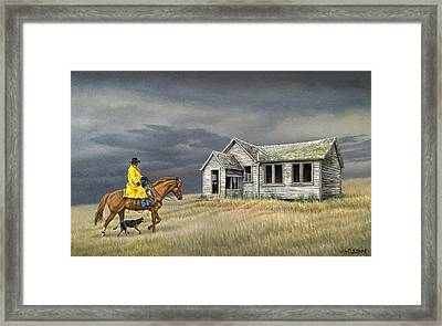 Abandoned Homestead-eastern Idaho Framed Print by Paul Krapf