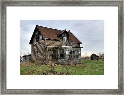 Framed Print featuring the photograph Abandoned Homestead by Jim Vance