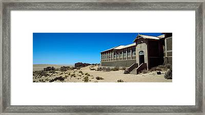 Abandoned Hospital In A Mining Town Framed Print by Panoramic Images
