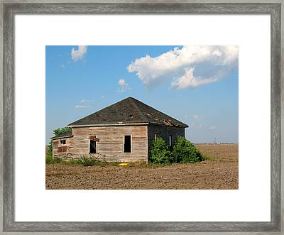 Abandoned House Framed Print by Connie Fox