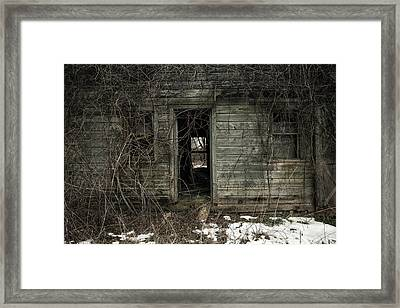 Abandoned House - Enter House On The Hill Framed Print by Gary Heller