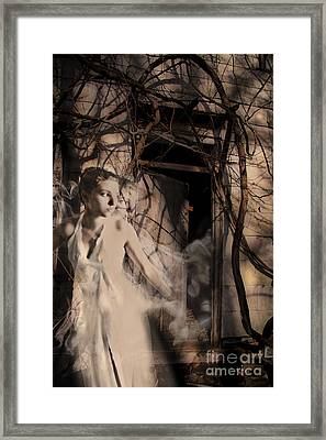 Fantasy- Abandoned House - Even The Last Ghost Left Framed Print