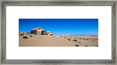 Abandoned House In A Mining Town Framed Print by Panoramic Images