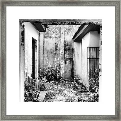 Abandoned House In Beautiful Scenario Framed Print