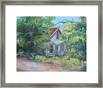 Abandoned House In Galivants Ferry Framed Print