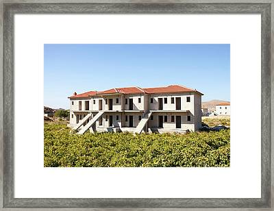 Abandoned House In Greece Framed Print by Ashley Cooper
