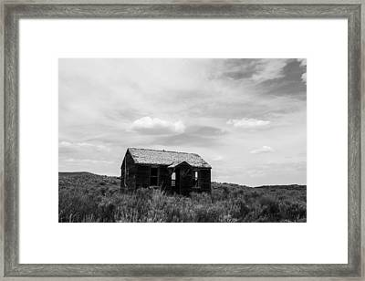 Abandoned House In Oklahoma Framed Print
