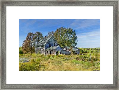 Abandoned House In Wentworth Valley Framed Print