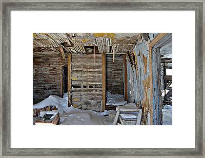 Abandoned House Framed Print by Miss Judith