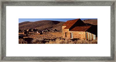 Abandoned Houses In A Village, Bodie Framed Print